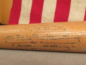 "Vintage Mickey Mantle Line Hillcrest Wood Baseball Bat Brooks Robinson Model 34"""