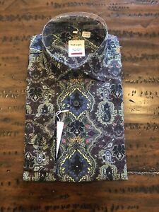 Men's HAUPT NWT Multi Paisley Print Long Sleeve Shirt SZ M