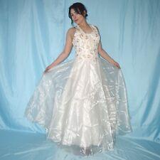 Taft Organza BRAUTKLEID mit Schnürung* S (36) * creme Hochzeitskleid* Ballkleid