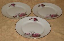 "3 x Royal Stafford Honeybunch English Bone China 7"" Side Plates - more available"