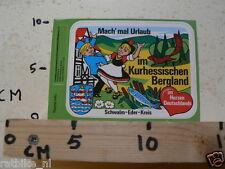 STICKER,DECAL MACH MAL URLAUB IM KURHESSISCHEN BERGLAND SCHWALM EDER KREIS