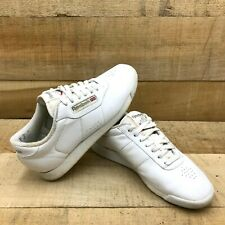 Reebok Womens White Leather Princess Athletic Shoes Size US 7.5