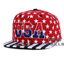Bandera de Estados Unidos Sombrero Gorra Estrellas y Rayas USA Gorra De  Béisbol Gorro Bordado-Rojo 272588e5428