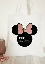 Personalised Dinsey Inspire Future Mrs Tote Bag,Bride to Be,Bridal Gifts,Engage