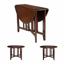 Drop Leaf Dining Table Small Solid Wood Antique Kitchen Dorm Round Furniture