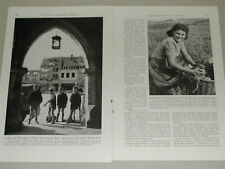 1948 LUXEMBOURG magazine article, Post-War, people, WWII rebuilding