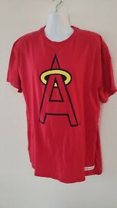 🔥🔥OFFICIAL LOS ANGELES ANGELS MLB MITCHELL NESS TSHIRT MENS XXL LARGE NEW⚾⚾