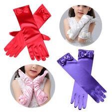Children Girl Elbow Long Full Finger Gloves Party Evening Wedding Sun Protection