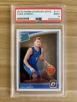 2018 Panini Donruss Optic Luka Doncic #177 RC Rookie PSA 9 Mint Dallas Mavs