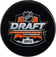 2014 NHL Draft Unsigned Draft Logo Hockey Puck - Fanatics