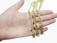 10K Yellow Gold Bracelet Men Women Maimi Cuban 7.5-9 Inch Box Lock