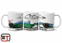 Micheal Schumacher 1994 Benetton B194 F1 Car Mug And Coaster Gift Set