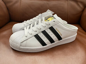 Adidas Women's designer Superstar Mule White/Black Trainers RRP £70 - NEW TAGS