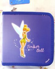 DISNEY TINKERBELL CD DVD CASE WITH ZIPPER CHARM - LAST ONES!  2002 DK BLUE NWT