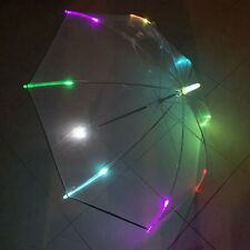 ENAPY Transparent Flashing LED Rain Umbrella w/ Flashlight & Carry Bag