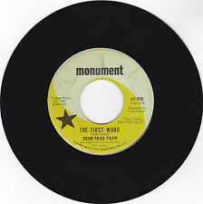 DEMETRISS TAPP-MONUMENT 908 PROMO POP 45RPM TRUE LOVE  VG++