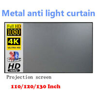 "120"" 16:9 HD 3D 4K Movie Portable Projector Screen Outdoor Home Cinema Theater"