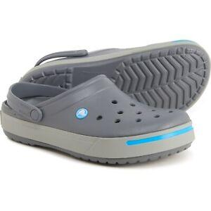 NEW Crocs Crocband II Charcoal / Grey Clogs Shoes SIZE (Mens 8) / (Women's 10)