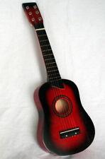 Holz Kinder Gitarre Kindergitarre Spielzeuggitarre ca 63 cm mit 6 Saiten rot ...