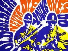 PROPAGANDA MILITARY VIETNAM WAR OLD YOUNG SOLDIER USA PROTEST ART PRINT CC1740