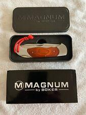 Boker Magnum 01MB136 Classic Hunter Wood Handle 3 Blade Lockback Knife