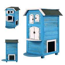 Wooden Cat House Shelter Bed Tree Condo Indoor Outdoor Furniture Pet Dog Tower