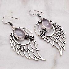 "Earrings Jewelry 2.52"" Ae 50558 Rose Quartz Handmade Drop Dangle"