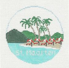 SP.ORDER ~ ISLAND of ST. MAARTEN Ornament Needlepoint Canvas Kathy Schenkel RD.