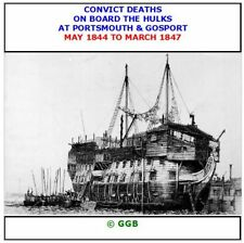 CONVICT DEATHS ON THE HULKS AT PORTSMOUTH & GOSPORT 1844-1847 CD ROM