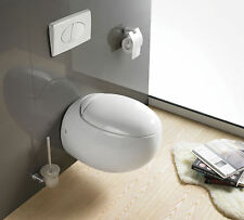 VeeBath Aggy Egg Pod Shaped Compact Wall Hung Toilet Short Projection WC Pan