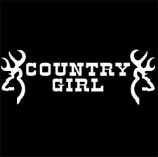 Country Girl Sticker Ute 4x4 Cowgirl Car Window Decal 200mmx70mm