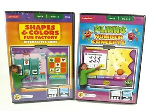 Lot Of 2 Lakeshore Plinko Number Concepts/ Shapes & Colors PC/Mac Pre K-K CD-ROM