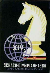 Original vintage poster CHESS OLYMPIADE LEIPZIG 1960