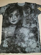 Affliction Bamboo t-shirt, Medium, Crying, Angel, Wings,