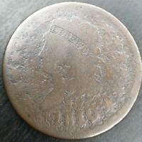 1810/09 Classic Head Large Cent, S-281 G Good Details Corroded
