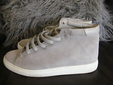 THE WHITE COMPANY SUEDE BOOTS GREY SUEDE TRAINER BOOTS SIZE 40 LEATHER INNER VGC