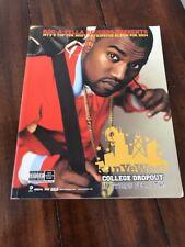 Kanye West - College Dropout - PROMO Journal - Rare yeezus pablo ye Hip Hop Rap
