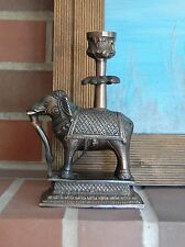 Bronze elephant candlestick holder VINTAGE