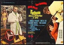 CINEMA-fotobusta FATHOM BELLA, INTREPIDA E SPIA franciosa,welch,fraser,MARTINSON