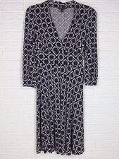Banana Republic Size Small V-Neck 3/4 Sleeve Bodice Wrap Knit Flare Dress
