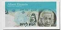 Israel Albert Einstein 5 Lirot 1968 Banknote P34b UNC Tribute Folder Gift Holder