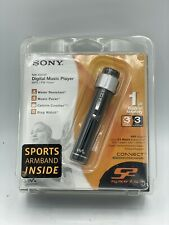 VTG Sony Sports Walkman NW-S203F Black Mp3 Player / FM Tuner NOS Factory Sealed!