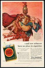 1932 Lucky Strike cigarettes Raid on the Sabine Women art vintage print ad