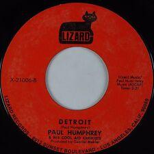 PAUL HUMPHREY: Cool Aid / Detroit USA LIZARD Funk Breaks Soul 45 VG++ Nice