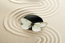 STUNNING ABSTRACT BUTTERFLY ON ZEN STONE #32 CANVAS PICTURE WALL ART A1