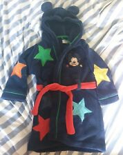 Boys Mickey Mouse Dressing Gown Disney Hooded Robe Mickey Gown