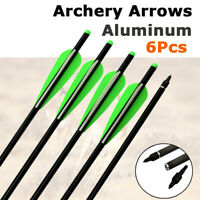 16-22 Inch Aluminum Crossbow Bolts With Field Point/Moon Nock Target Arrows 6Pk