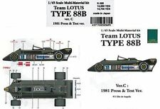 MFH Model Factory Hiro 1/43 Team LOTUS TYPE88B Ver.C K-369 Multi Material Kit