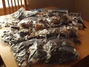 Construction Blocks Pieces & Figures Mixed Bundle Including 44 individual bags.