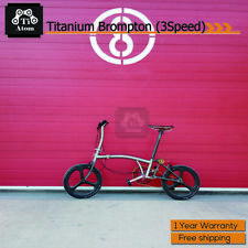 Ti Atom/Titanium Brompton Upgrade 3speed  folding bike